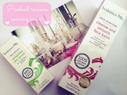 Balance Me – Product Reviews Coming Soon!!!
