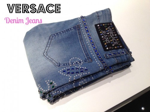 Versace Denim Jeans – Studs and Gem Detail