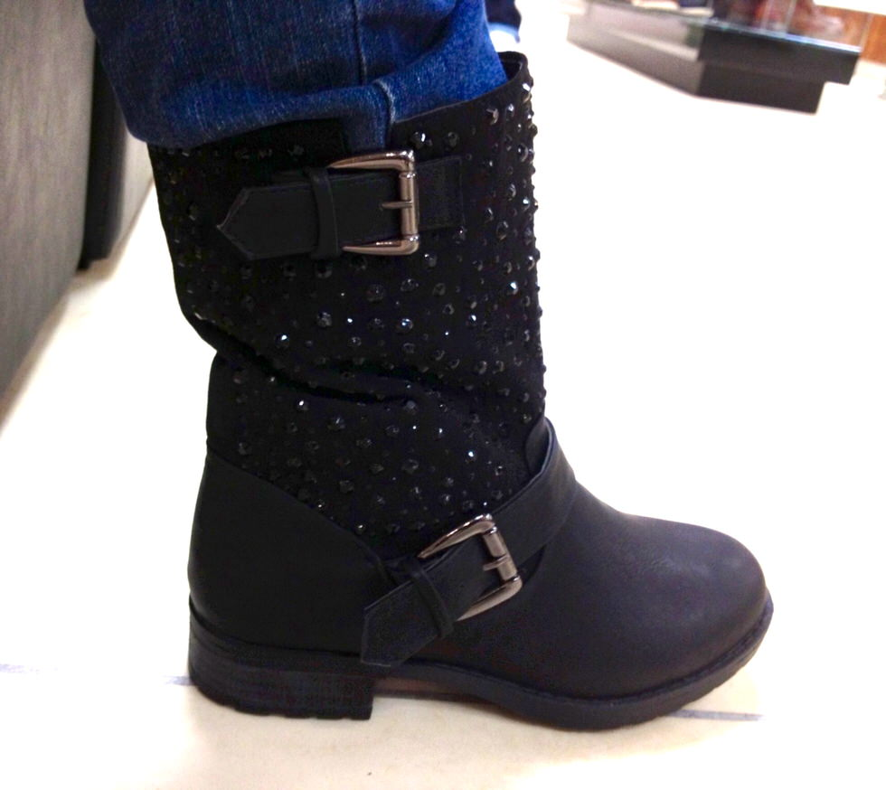 Head over Heels - Embellished Biker Boots