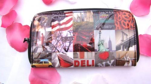 Catseye London New York Zip Wallet