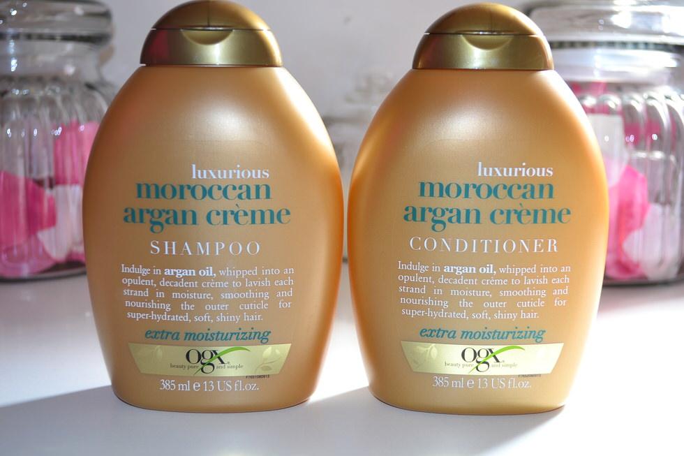 OGX Moroccan Argan Creme Shampoo & Conditioner