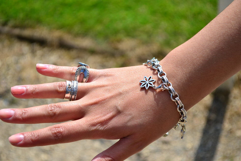 Summer Jewellery - Charm Bracelet - Rings