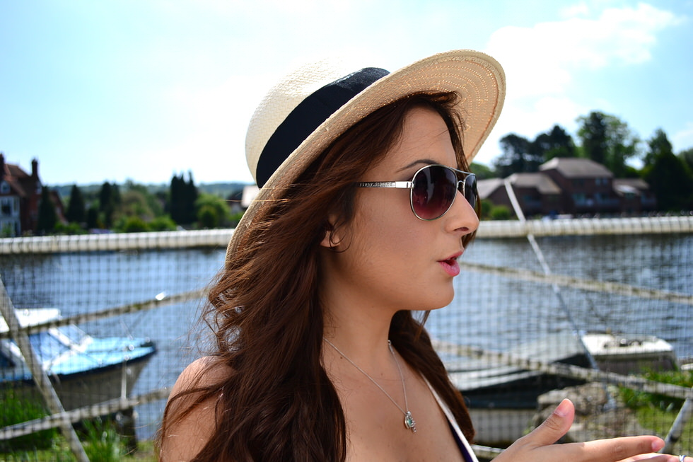 Casual Summer Outfits - River Island Sunglasses - h&M hat