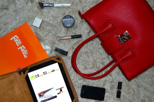 What's in my Handbag – London Fashion Week – Folli Follie