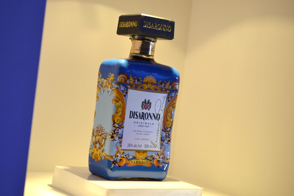 Disaronno Wears Versace Bottle