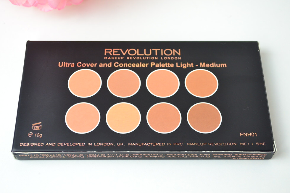 makeup Revolution ultra over and conceal palette review - light medium