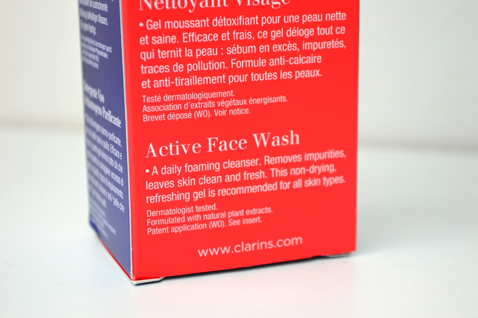 ClarinsMen Active Face Wash Review