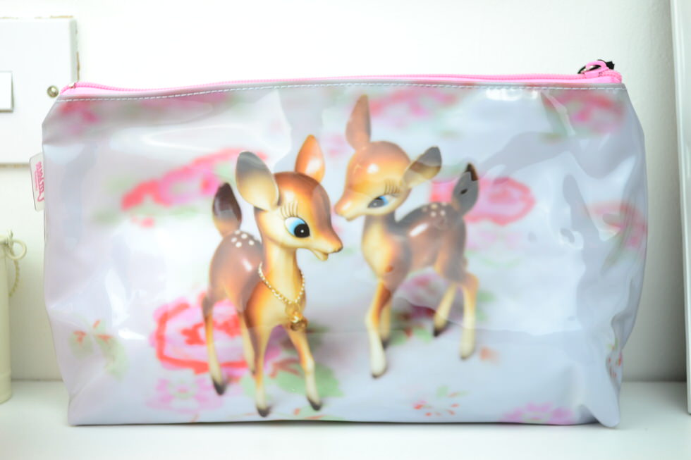 Catseye London - Deer on Rose Wash Bag
