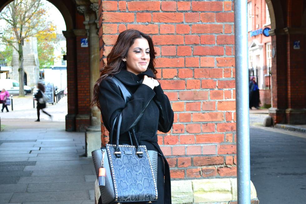 Pauls Boutique Mila Handbag Black Grey