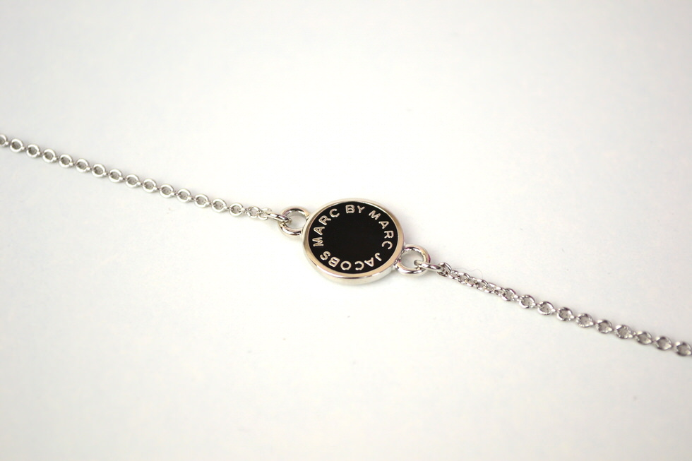 Marc Jacobs Black Enamel Disc Bracelet