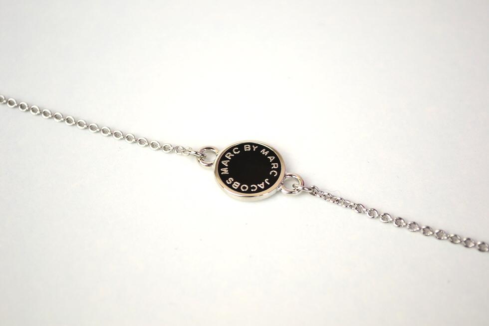 Marc Jacobs Black Enamel Disc Bracelet