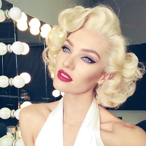 Candice Swanepoel Marilyn Monroe Max Factor 2015
