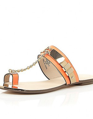 river-island-orange-chain-sandal