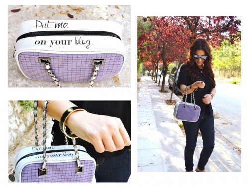 Put Me on Your Blog Handbag