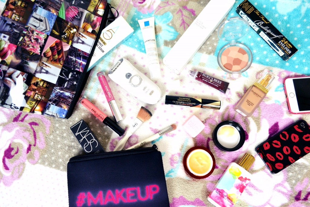 how to pack your beauty products