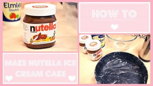 How To Make Nutella Ice Cream Cake
