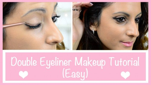 Double Eyeliner Makeup Tutorial