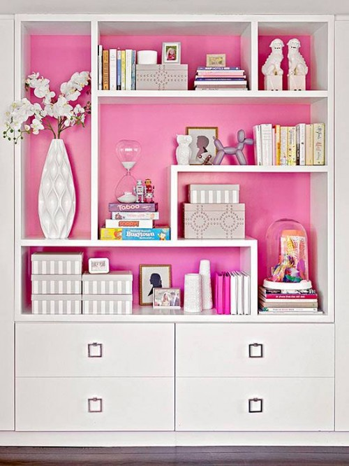 How To Make Shelving Units Pretty