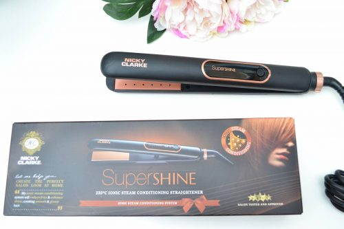 Nicky Clarke SuperShine Steam Hair Straightener