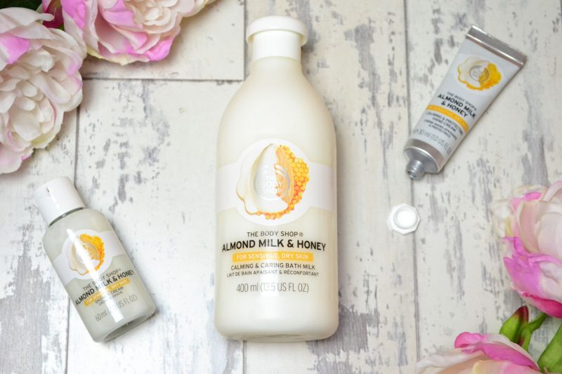 The Body Shop Almond Milk and Honey Range