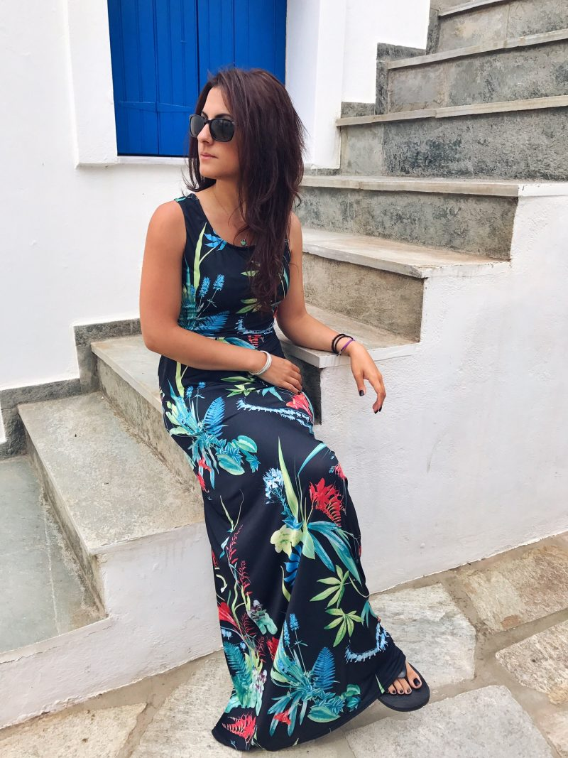 Tropical Summer Maxi Dress