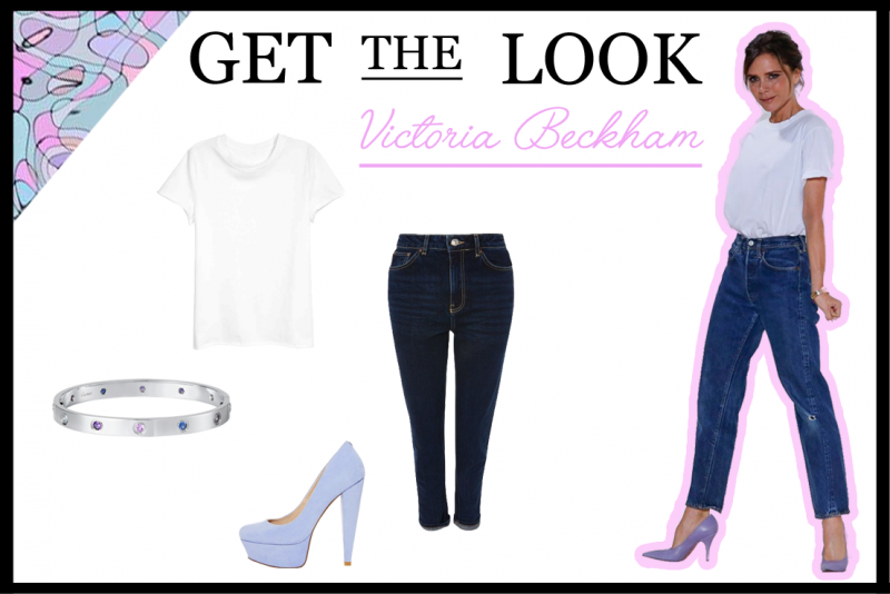 Get THE Look: Victoria Beckham White T-shirt and Jeans (New York Fashion Week)