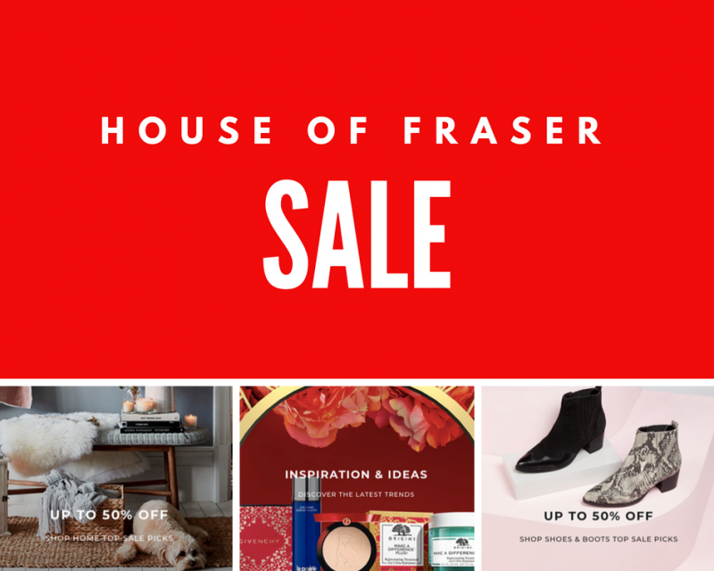 House Of Fraser Sale – Online Now