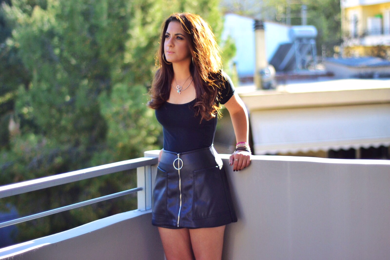 black-faux-leather-skirt