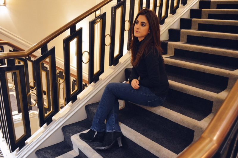 The London Look – Black Sweater and Denim