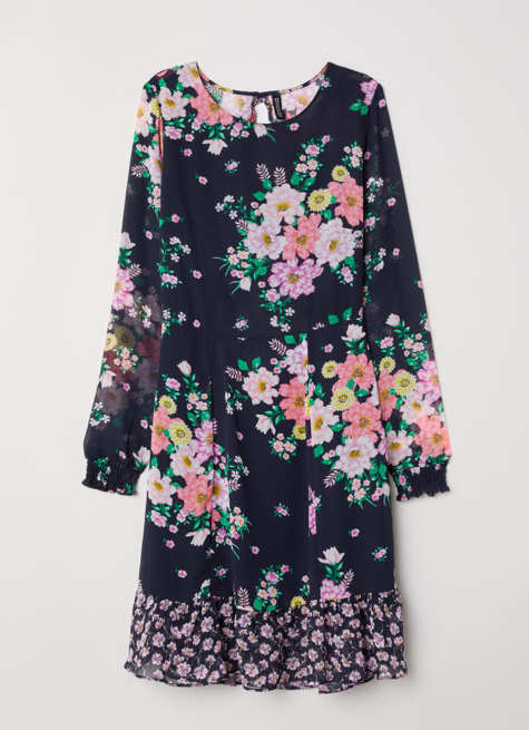 floral-chiffon-dress-hm