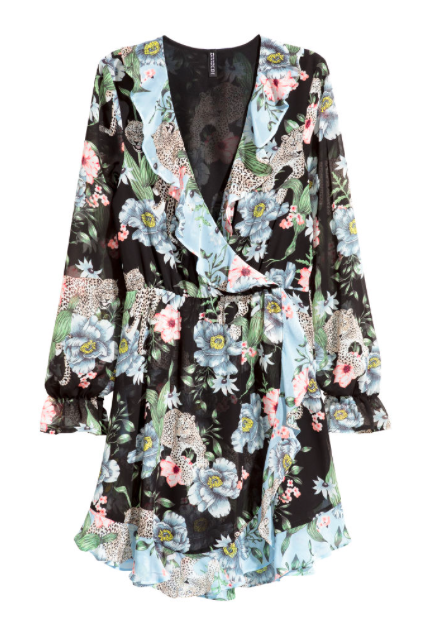 hm-floral-wrap-dress-black
