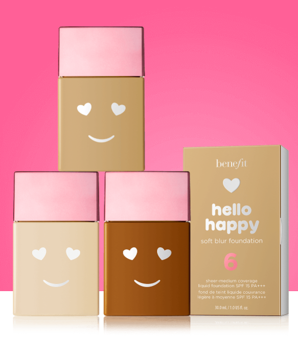 NEW LAUNCH: Hello Happy Foundation – Benefit Cosmetics