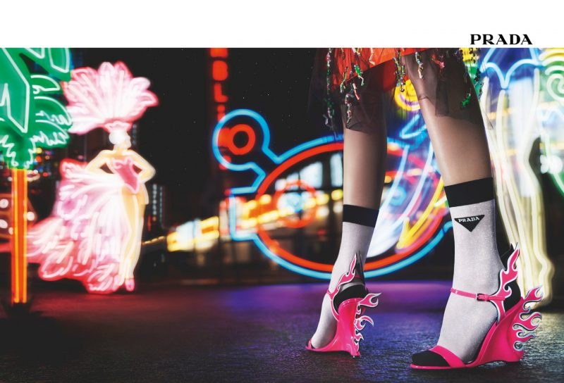 Neon Dream – Prada 2018 Fall/Winter Womenswear Advertising Campaign