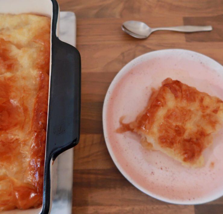 vegan-custard-pie-recipe-Vegan Custard Pie Recipe-Galaktoboureko-γαλακτομπουρεκο