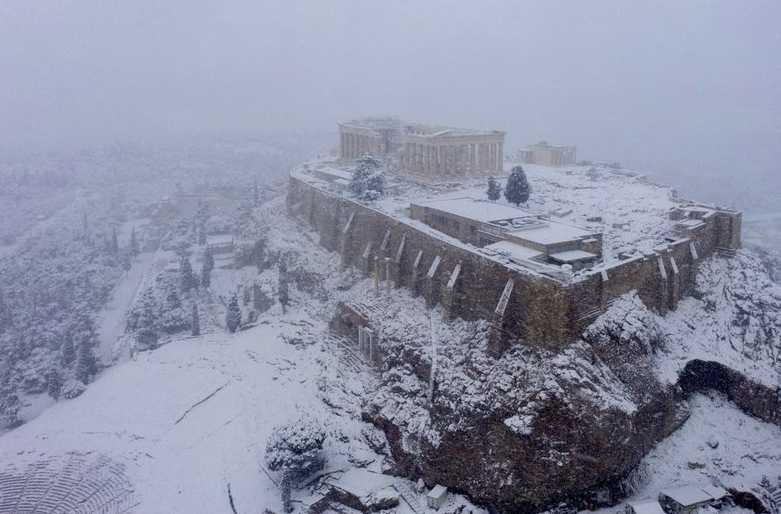 athens-snow-pictures