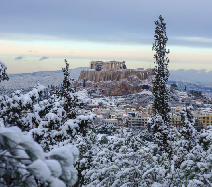snow-in-athens-greece